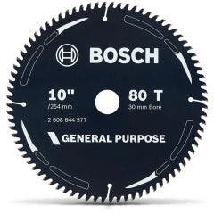 BOSCH 254mm 80T TCT Circular Saw Blade for Wood Cutting - GENERAL PURPOSE