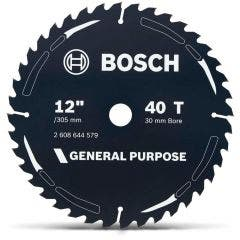 BOSCH 305mm 40T TCT Circular Saw Blade for Wood Cutting - GENERAL PURPOSE