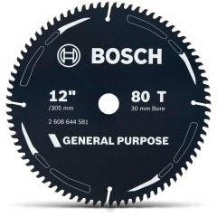BOSCH 305mm 80T TCT Circular Saw Blade for Wood Cutting - GENERAL PURPOSE