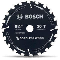 BOSCH 160mm 20T TCT Circular Saw Blade for Wood Cutting - CORDLESS WOOD