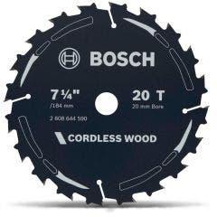 BOSCH 184mm 20T TCT Circular Saw Blade for Wood Cutting - CORDLESS WOOD