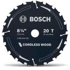 BOSCH 210mm 20T TCT Circular Saw Blade for Wood Cutting - CORDLESS WOOD