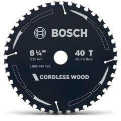 BOSCH 210mm 40T TCT Circular Saw Blade for Wood Cutting - CORDLESS WOOD