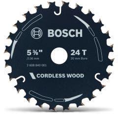 BOSCH 136mm 24T TCT Circular Saw Blade for Wood Cutting - CORDLESS WOOD