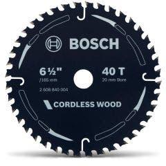 BOSCH 165mm 40T TCT Circular Saw Blade for Wood Cutting - CORDLESS WOOD