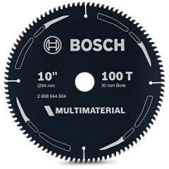 BOSCH 254mm 100T TCT Circular Saw Blade for Multi-Purpose Cutting - MULTIMATERIAL