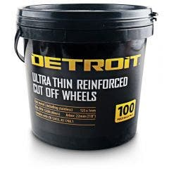 DETROIT 125 x 1.0mm Steel & Stainless Cut Off Disc - 100 Piece Tub