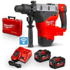 MILWAUKEE 18V FUEL 2 x 12Ah 44mm SDS Max Rotary Hammer Kit M18FHM122C