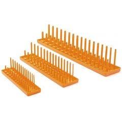 GEARWRENCH 3 pcs 1/4inch, 3/8inch & 1/2inch Drive Orange Metric Socket Storage Tray Set 83119