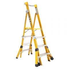 GORILLA 1.2-1.8m Fibreglass Adjustable Platform Ladder FPL0406-I