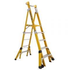 GORILLA 1.5-2.4m Fibreglass Adjustable Platform Ladder FPL0508-I