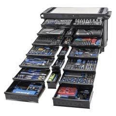 KINCROME CONTOUR 60 Tool Trolley Kit Black Series - 674 Piece K1562MB