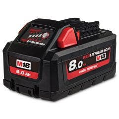MILWAUKEE 18V 8.0Ah Red Lithium-Ion High Output Battery Pack M18HB8