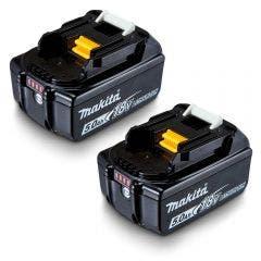 MAKITA 18V 2 x 5.0Ah Li-On Battery Pack 191C123
