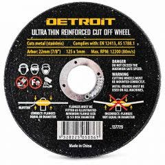 DETROIT 125 x 1.0mm Steel & Stainless Cut Off Disc