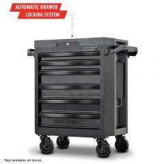 KINCROME 6-Drawer CONTOUR Tool Trolley Black Series K7536