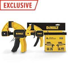 DEWALT 150/300mm M/L Trigger Clamp 4pc DWHT83196