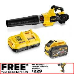 DEWALT 54V Brushless 1 x 9.0Ah XR FlexVolt Axial Blower Kit DCMBA572X1-XE