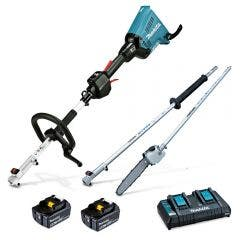 MAKITA 36V Brushless 2 x 5.0Ah Multi-Function Powerhead & Pole Saw Kit DUX60PSPT2