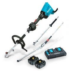 MAKITA 36V Brushless 2 x 5.0Ah Multi-Function Powerhead & Hedge Trimmer Kit DUX60PHPT2