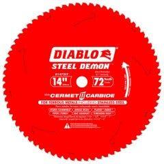 DIABLO 355mm 72T TCT Circular Saw Blade for Ferrous Metal & Stainless Steel Cutting - STEEL DEMON