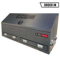 1-11TOUGH 1500mm BKAT ContractorONE Truck Box Tool Box w/ Whale Tail Lock - Charcoal BKAT15WTCH2