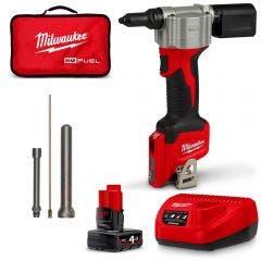 MILWAUKEE 12V 1 x 4.0Ah Rivet Tool Kit M12BPRT401B
