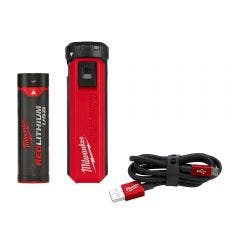 MILWAUKEE Red Lithium-Ion USB Portable Power Source & Charger Kit L4PPS201