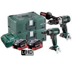 METABO 18V Brushless 2 Piece 2 x 8.0Ah Combo Kit AU68902580