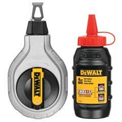 DEWALT 6:1 30m Chalk Reel Kit w. 113g Red Chalk DWHT47408