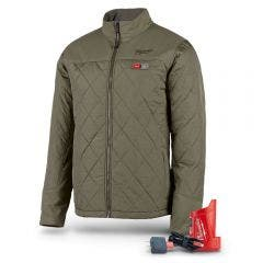 MILWAUKEE 12V AXIS Heated Jacket Olive Green M12HJMOGX-0