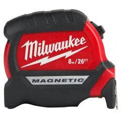MILWAUKEE 8m/26ft x 25mm Compact Magnetic Tape Measure 48220526
