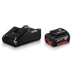 BOSCH 18V 4.0Ah Battery and Charger Starter Kit 1600A01BA2