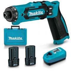 MAKITA 7.2V 2 x 1.5Ah Driver Drill Kit DF012DSE