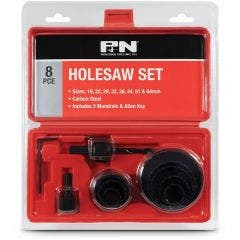 P&N 19-64mm HCS Holesaw Set for Wood & Plastic - 8 Piece