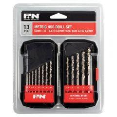 P&N 1.5-6.5mm Metric HSS-Bright Jobber Drill Bit Set - 13 Piece