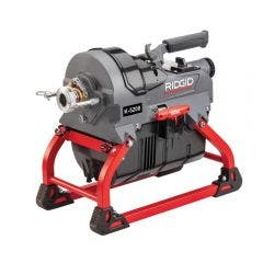 RIDGID Drain Cleaner Machine K-5208 w. 4 C11 cables, Sectional Cable Carrier and Toolbox 64073