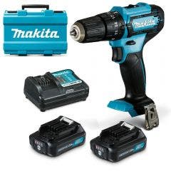 MAKITA 12v 10mm 2 x 2.0Ah Hammer Driver Drill Kit HP333DSAE