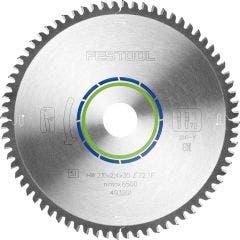 FESTOOL 190mm 68T TCT Circular Blade for Non-Ferrous Metal Cutting