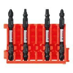 BOSCH 50mm Power Screwdriver Bit Set Mixed 4 Piece