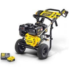 DEWALT 3400PSI 9.5LPM Petrol Pressure Washer w. 18V Battery & Charger DXPW3495PR