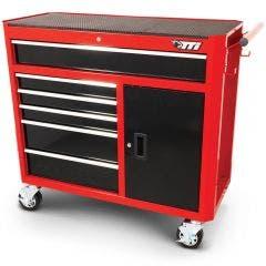 TTI 41inch 6 Drawer Tool Trolley - Red/Black TTR4106