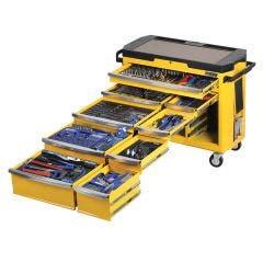 KINCROME Contour Tool Workshop 485 Piece 15 Drawer w. Trolley - Yellow K1506Y