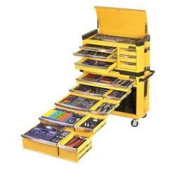 KINCROME Contour Tool Workshop 594 Piece 15 Drawer w. Trolley - Yellow K1505Y