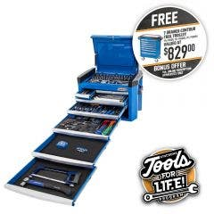 KINCROME Contour Tool Chest Kit 246 Piece 8 Drawer - Blue P1800