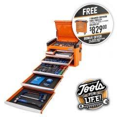 KINCROME Contour Tool Chest Kit 246 Piece 8 Drawer - Orange P1800O