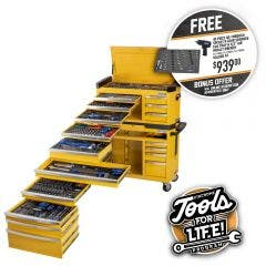 KINCROME Contour Tool Chest Kit 551 Piece 17 Drawer w. Trolley - Yellow P1810Y