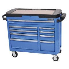 KINCROME Contour 42inch Tool Trolley 9 Drawer Electric Wide - Blue K7759