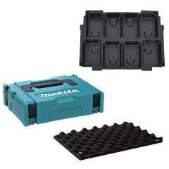 MAKITA Makpac Case 1 / 8 x 18V Battery Storage MAKPAC115
