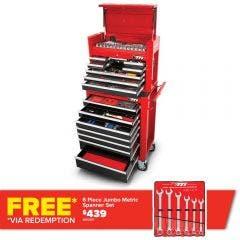TTI 340 Piece 26inch 15 Drawer Chest & Trolley Tool Kit TTK26152